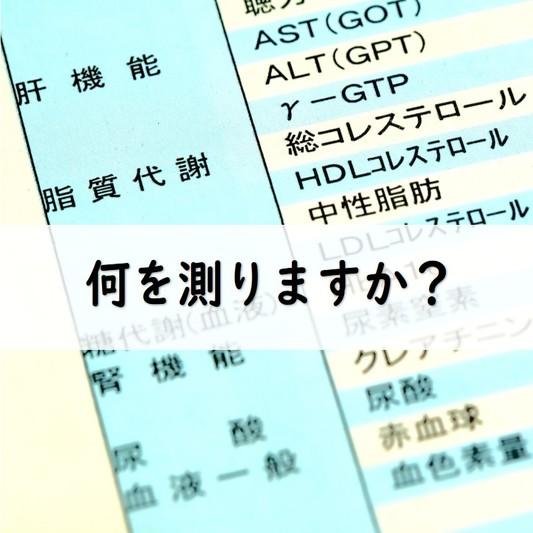 血液検査の項目が記載された結果用紙